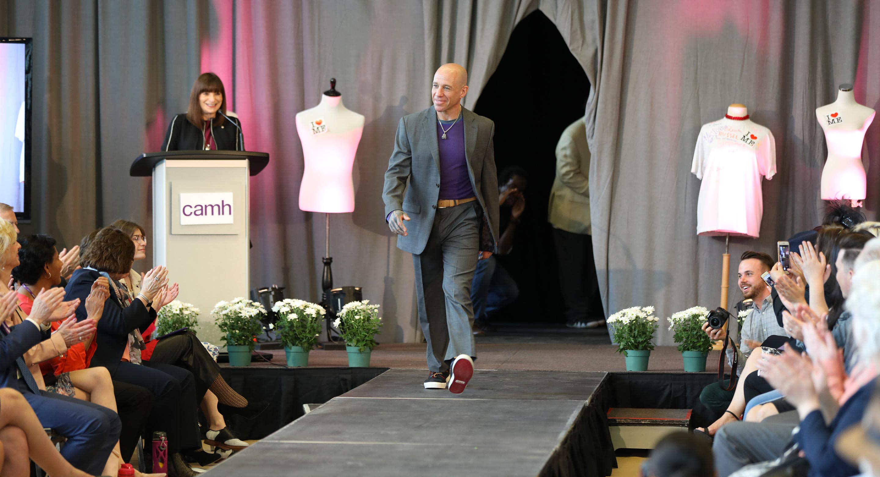 Theo Garfinkle at the Suits Me Fine Fashion Show 2018